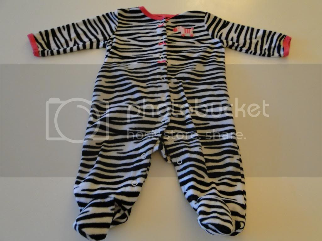 Carters Zebra Sleeper-6M