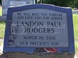 Landon's headstone